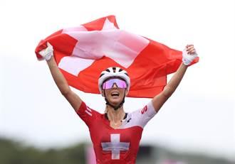 東奧》戰勝死神枷鎖 瑞士姑娘奪越野登山車越野賽金牌