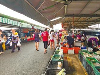 台南善化牛墟重開市人潮來3成