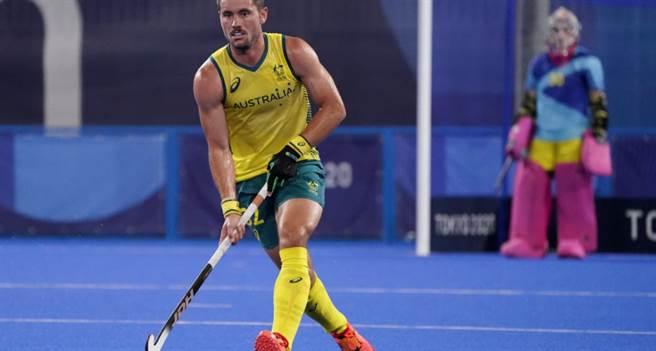 奧運史上首次出現兄弟對決戲碼,曲棍球賽場上弟弟傑瑞米海沃德代表澳洲隊出賽,28日擊敗由哥哥里昂海沃德領軍的紐西蘭。(美聯社資料照)