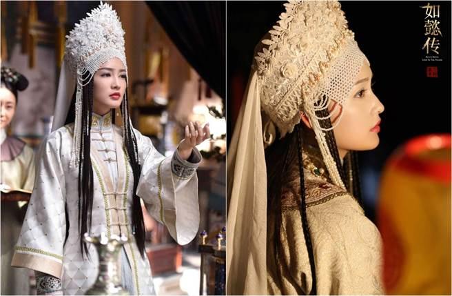 李沁演出《如懿傳》,被封為「最美香妃」。(翻攝自李沁工作室微博)