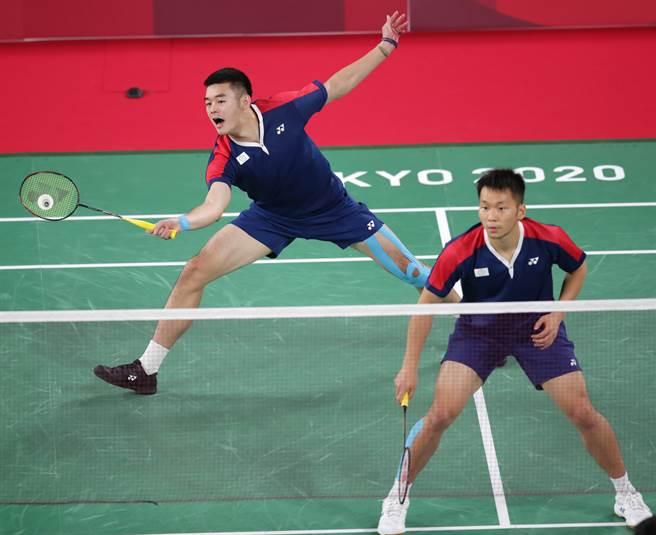 台灣羽球男雙李洋(右)、王齊麟。(本報資料照片/季志翔)