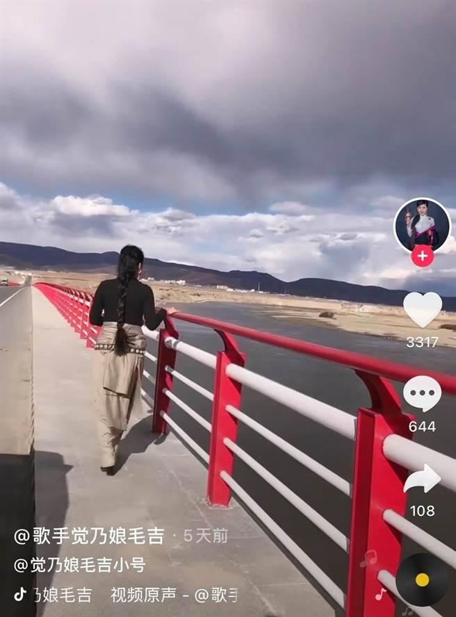 覺乃娘毛吉車禍3天前還在抖音更新影片,未料成為最後身影。(圖/翻攝自微博)