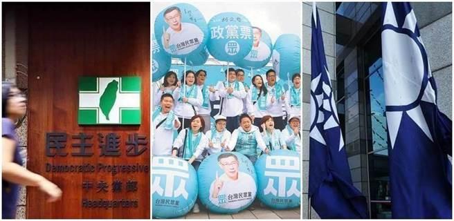 根據台灣民意基金會7月份政黨民調顯示,民進黨的政黨支持度回升至28.3%;國民黨為21.9%,增加3.5個百分點;民眾黨為11.3%,減少4.3個百分點。(本報系資料照)