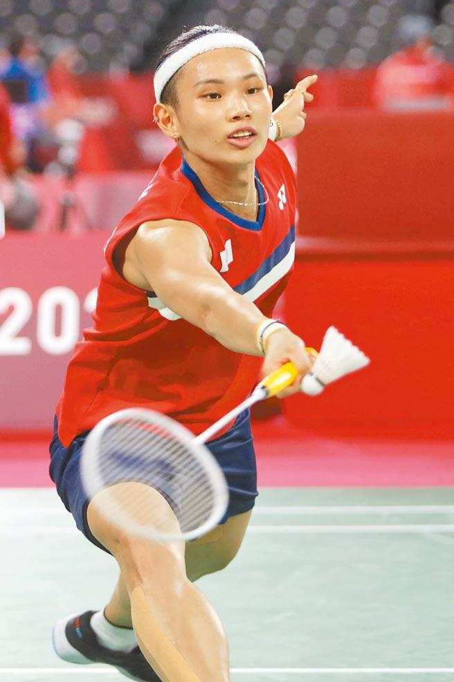 東奧羽球女子單打,戴資穎擊敗法國選手晉級。(季志翔攝)