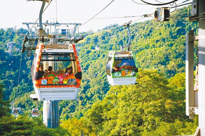 台北市兒童新樂園、貓空纜車及動物園將於8月1日重啟營運。圖為貓空纜車。(台北捷運提供/黃婉婷台北傳真)