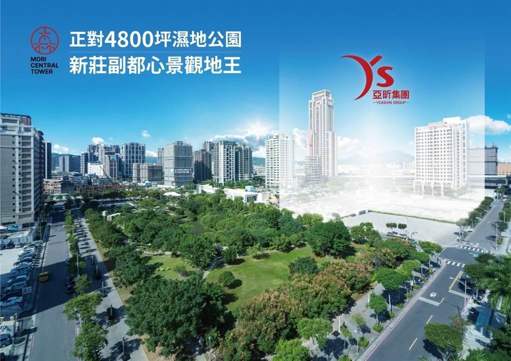 寬廣樹海超大棟距,世界級住商規劃,將成為新莊地標。(圖/亞昕集團提供)