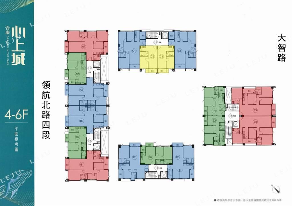 合康心上城標準層平面圖