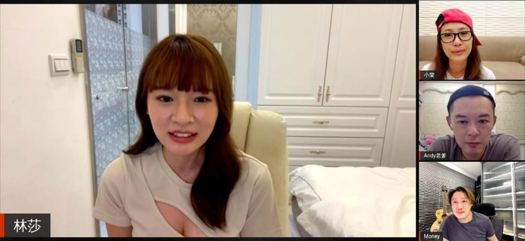 林莎在節目中分享搭乘計程車掉到田裡的糗事。(TVBS提供)