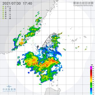 西南氣流慎防致災 氣象局:明後天南部恐有豪雨以上雨勢