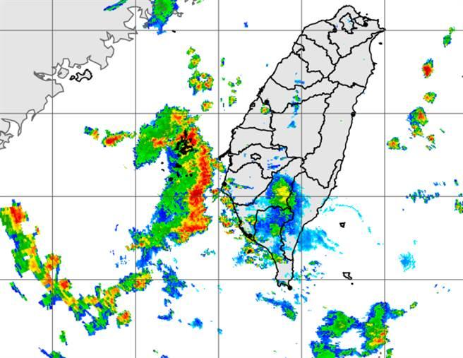 旺盛對流未來一週將持續衝擊中南部,大雨不斷。(中央氣象局提供)