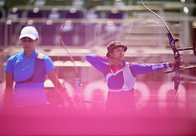 林佳恩射箭女子個人賽止步16強。(路透資料照)