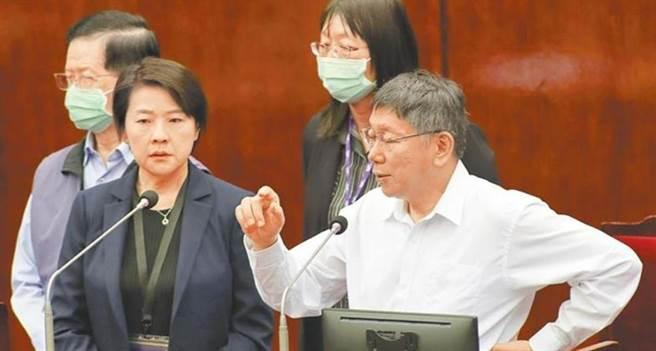 台北市長柯文哲(右)、北市副市長黃珊珊(左)。(本報資料照片)