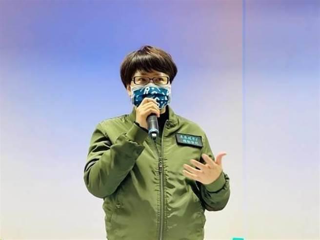 北市勞動局長陳信瑜30日呼籲台灣《蘋果日報》資方應持續與勞方對話,勞動局仍會適時強制介入處裡。(北市勞動局提供/張穎齊台北傳真)