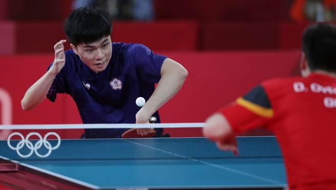 林昀儒在第6局錯過4個賽末點,遭奧恰洛夫後來居上,屈居第4名。(季志翔攝)
