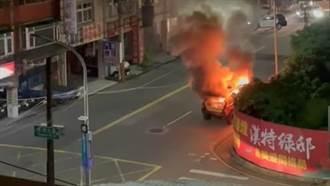 五股街頭休旅車突「燒成火球」 濃煙衝天駕駛乘客棄車驚逃
