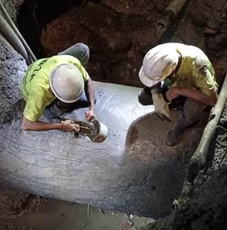 施工不慎挖破管線 基隆、瑞芳3萬戶停水今凌晨3時復水