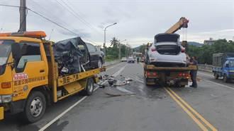 南投市小溪橋附近車禍 5人輕重傷