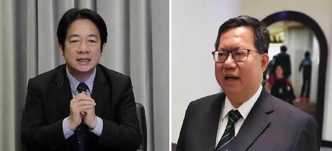 副總統賴清德、桃園市長鄭文燦。(圖/本報資料照)