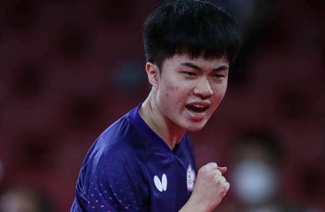 林昀儒出戰德國選手,最終以3:4落敗,無緣銅牌。(圖/季志翔攝)