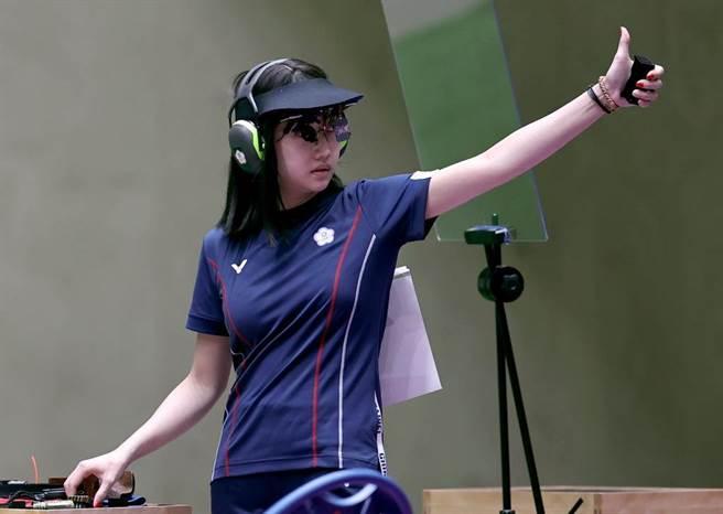 吳佳穎參加東奧女子25公尺火藥手槍項目奪第五名破歷史紀錄。(路透)