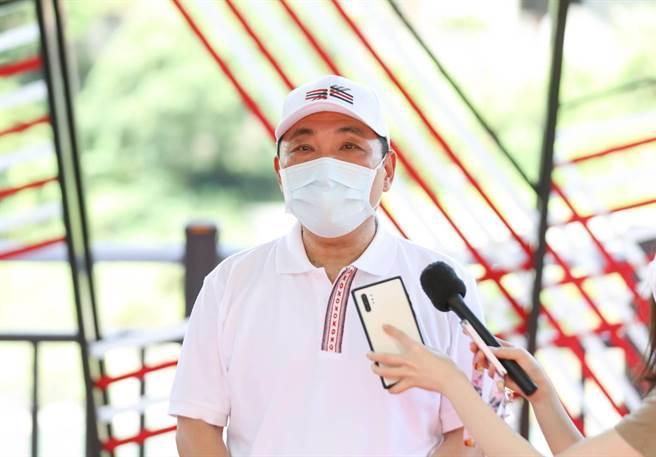 新北市長侯友宜今(31)日上午出席烏來織藝廣場啟用典禮。(新聞局提供)