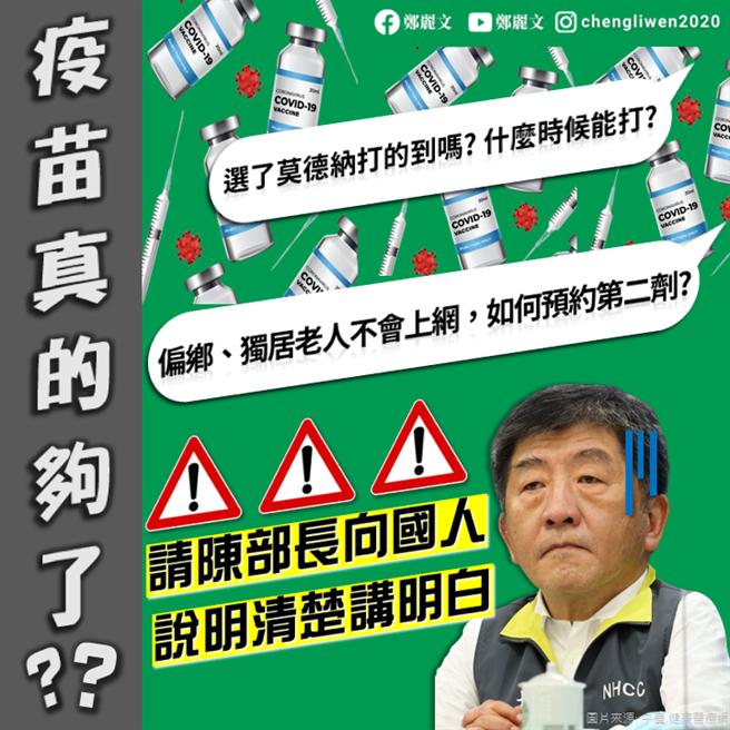 國民黨立委鄭麗文臉書發文附圖。(圖/取自鄭麗文臉書)