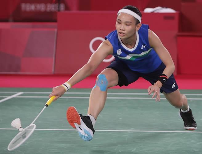 戴資穎直落二擊敗印度辛度,勇闖東京奧運羽球女單金牌戰。(季志翔攝)