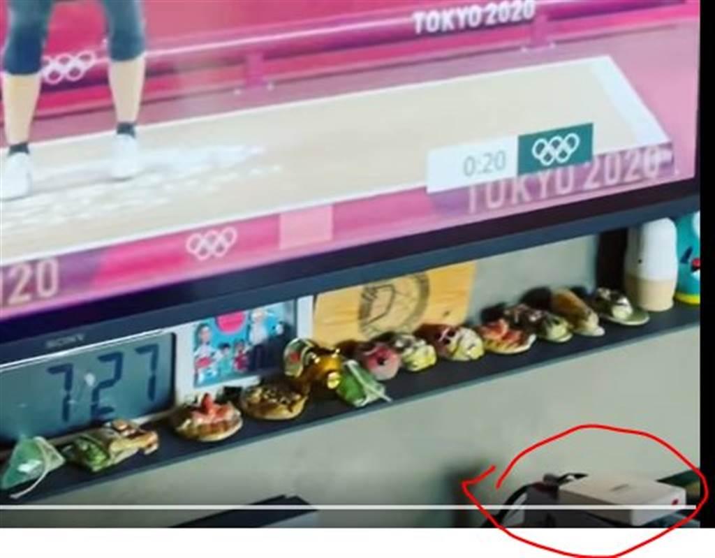 有眼尖網友發現,范瑋琪日前分享的影片中有安博盒子的蹤影。(圖/翻攝自PTT)