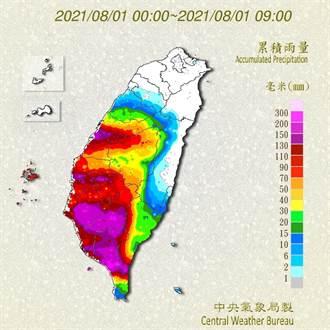 不斷更新》大雷雨國家警報再響!南高屏雨量紫爆 11縣市大豪雨