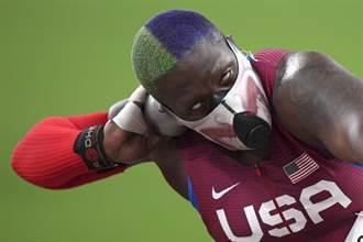 東奧》先嚇死對手 美國鉛球女將戴防毒面具惹議