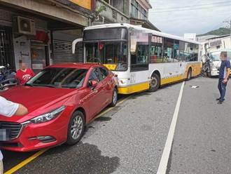 瑞芳大貨車追撞公車波及2車 司機與乘客5人送醫