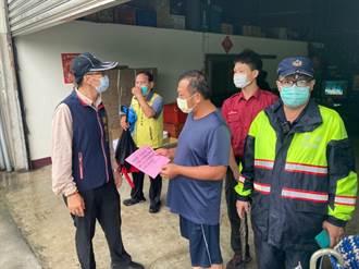 台南南化區5條潛勢溪流土石流黃色警戒 公所勸導撤離