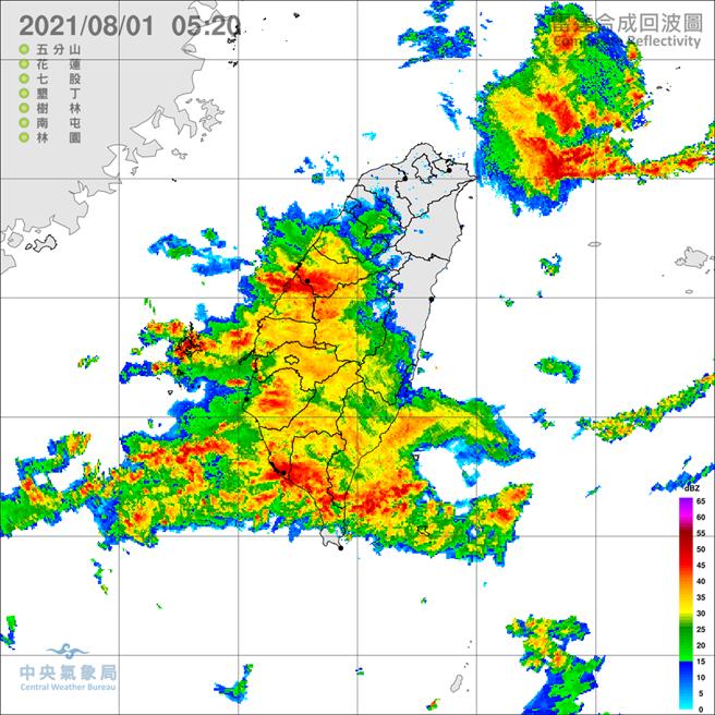 雷雨彈狂炸,氣象局發布豪雨特報(氣象局)