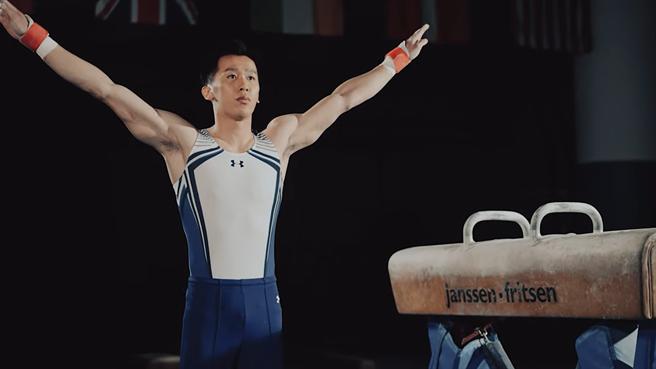 「鞍馬王子」李智凱銀了,圖為出征前,桃園市體育局拍攝的形象廣告。(蔡依珍攝)