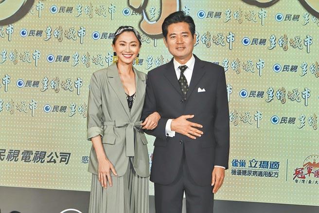蕭大陸(右)、侯怡君情纏20年修成正果。(資料照片)