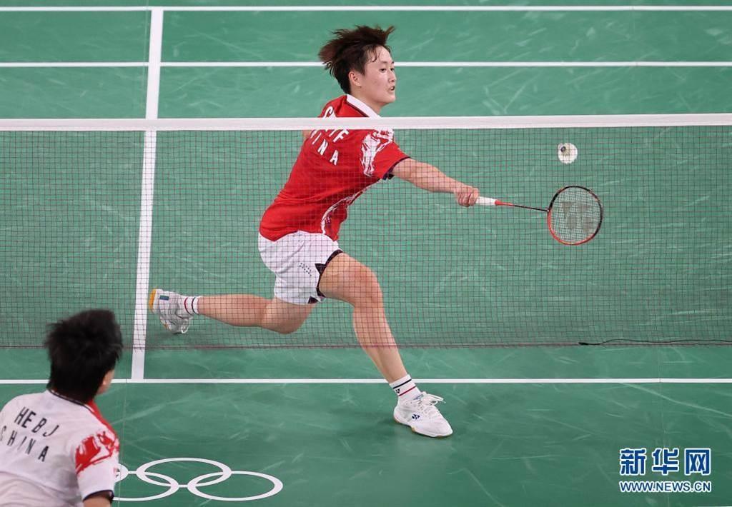 中國隊陳雨菲在東奧羽毛球女子單打奪冠。(新華社提供)