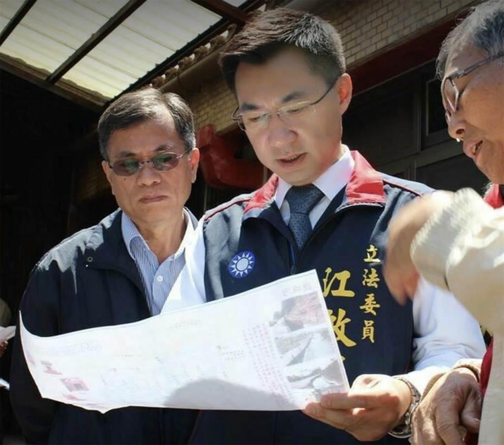 原台中縣區的市議員說,台中市是國民黨現任黨主席江啟臣的地盤,他還是力挺江啟臣角逐連任。(翻攝江啟臣臉書)