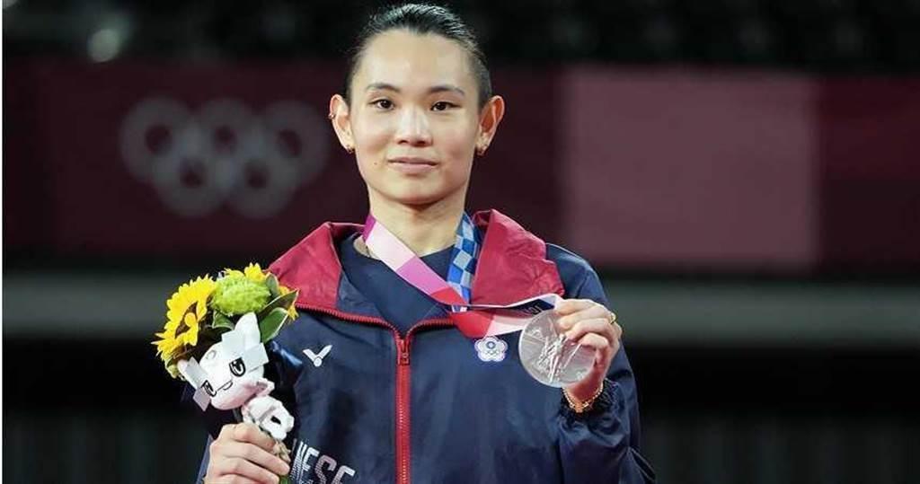 「世界球后」戴資穎,在2020東京奧運奪得銀牌。(圖/達志/美聯社)