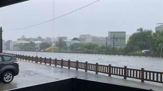 嘉市強降雨超標 中央大排溢流、興業路地下道積水