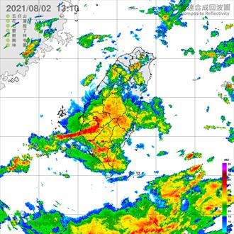 雷雨彈擴及北部 北北桃等15縣市豪大雨 6縣市一級淹水警戒