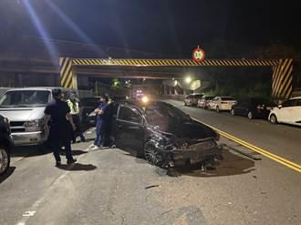 趁疫情警戒路上沒警察 男酒測值1.15連撞7台車遭訴