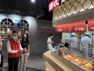 新竹市百貨美食街 內用距離、隔板一樣不能少