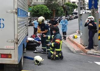 牯嶺街車禍機車卡貨車車底 後座女童被救出無大礙
