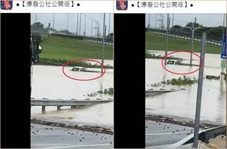 貨車幾乎滅頂水中繼續開 12秒影片網震撼:難怪要推潛艦國造