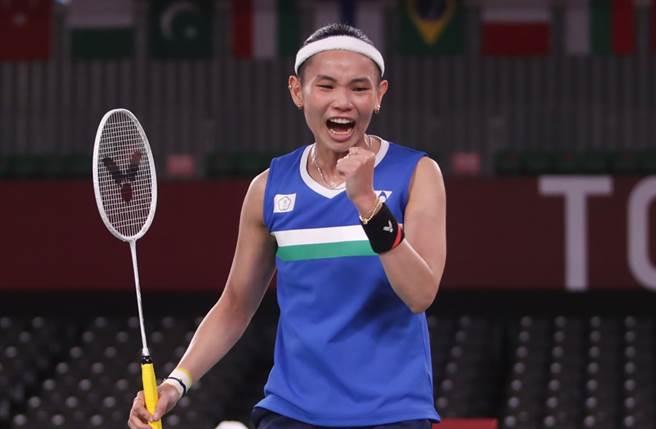 戴資穎昨在東奧羽球女單獲得銀牌。(圖/季志翔攝)