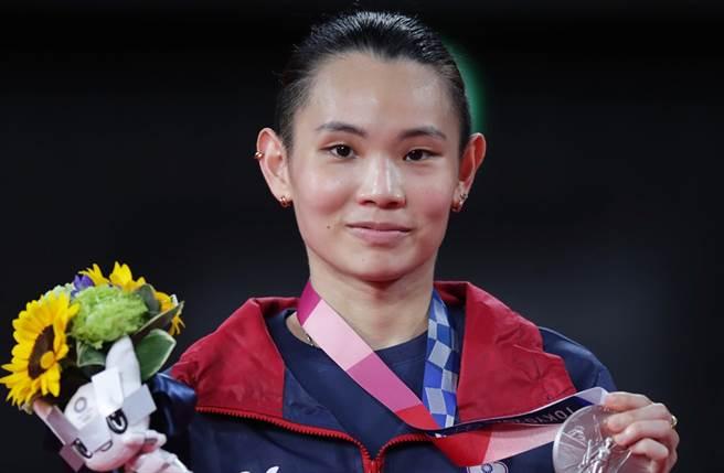戴資穎昨參加東奧羽球單打金牌賽,電視台收視率創新高。(圖/季志翔攝)