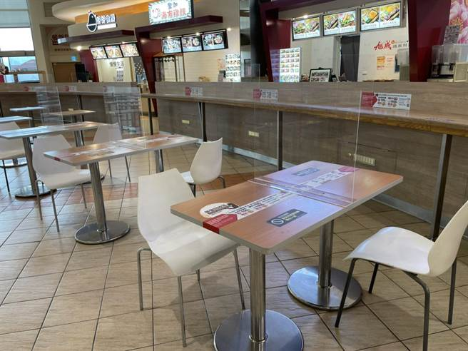 配合台北市、新北市宣布開放餐飲內用,Global Mall新北中和、板橋車站、南港車站及林口A9將會依循政府指引,自8月3日起開放餐飲內用。(Global Mall提供)