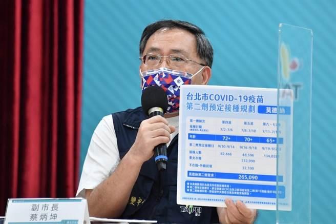 北市副市長蔡炳坤。(北市府提供/張穎齊台北傳真)