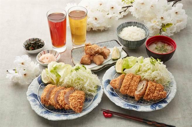 微風信義—銀座杏子日式豬排,鹽麴棒腰內豬排雙人餐。(微風提供)