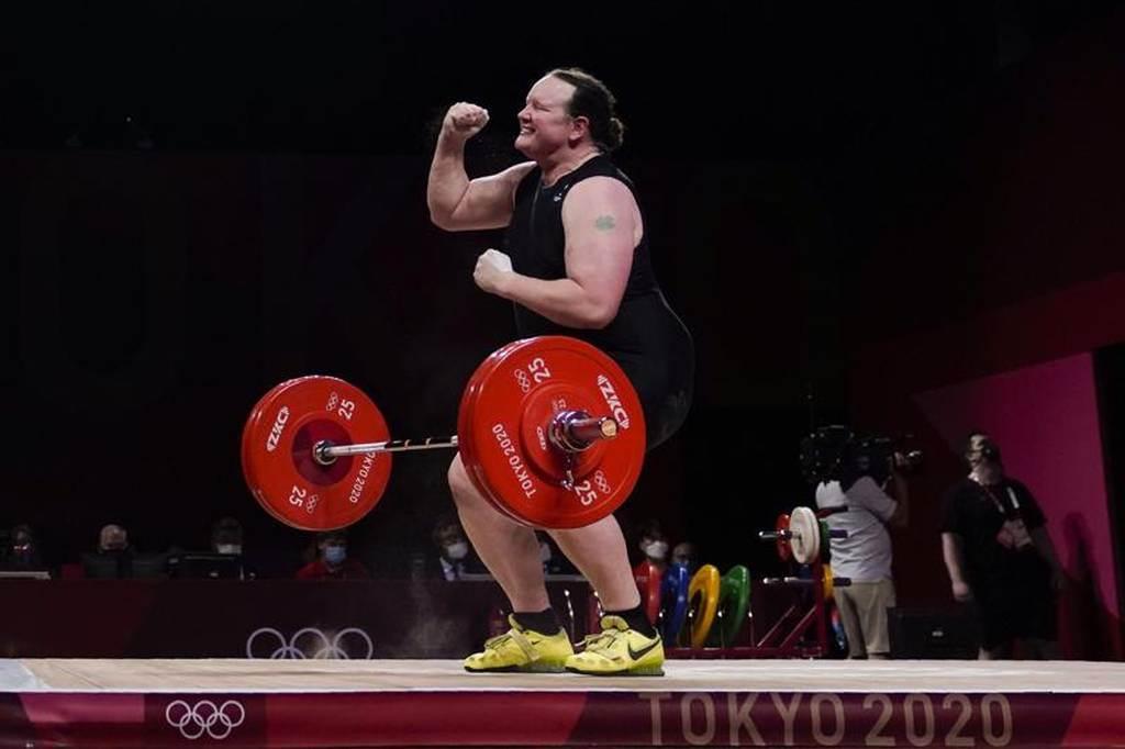 奧運史上首位跨性別運動員哈伯德在東京奧運出賽。(美聯社資料照)
